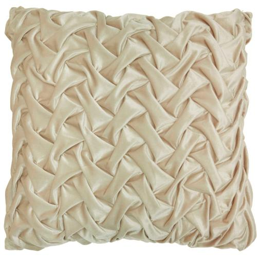 "Life Styles L0064 Beige 22"" X 22"" Throw Pillow"
