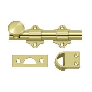 """Deltana - 4"""" Dutch Door Bolt, HD - Polished Brass"""