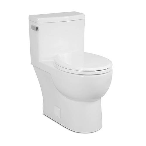 Icera - White MALIBU One-Piece Toilet, Round Front