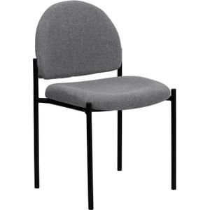 Gallery - Comfort Gray Fabric Stackable Steel Side Reception Chair