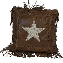 Leather Pillow W/Star DISCONTINUED