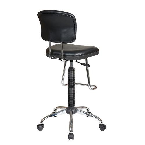 Chrome Finish Economical Chair With Teardrop Footrest