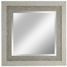 Square wall mirror in weathered wood finish 34 X 34 inches