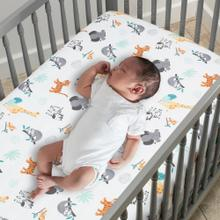 Mighty Jungle Animals Baby Fitted Crib Sheet - Multicolor