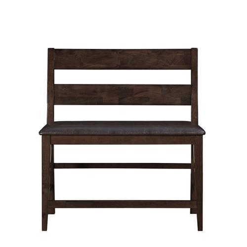 Fairwood Upholstered Gathering Height Bench, Espresso Brown 1289-434-ben