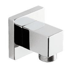 Shower Outlet Elbow SQU Chrome