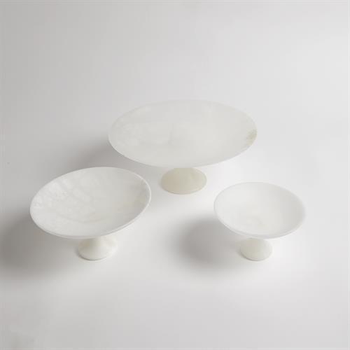 Alabaster Compote-Med