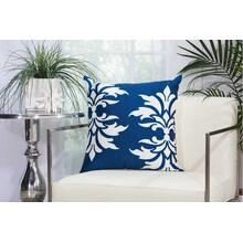 "Outdoor Pillows As065 Navy 20"" X 20"" Throw Pillow"