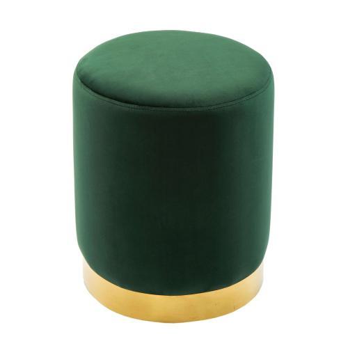 Tov Furniture - Pri Forest Green Velvet Ottoman