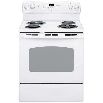 """GE 30"""" Electric Freestanding Range with Storage Drawer White - JCBP240DMWW"""
