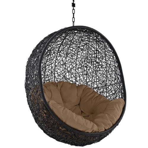 Encase Swing Outdoor Patio Lounge Chair in Mocha