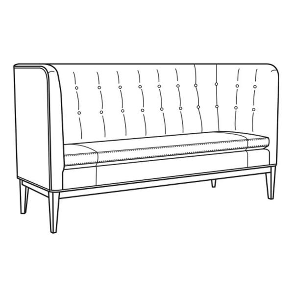 See Details - Leather Sofa Banquette