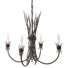 See Details - Rush Iron 4 Arm Chandelier