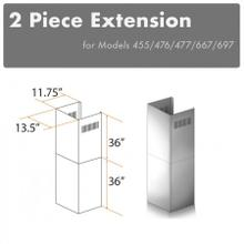 """See Details - ZLINE 2-36"""" Chimney Extensions for 10 ft. to 12 ft. Ceilings (2PCEXT-455/476/477/667/697)"""