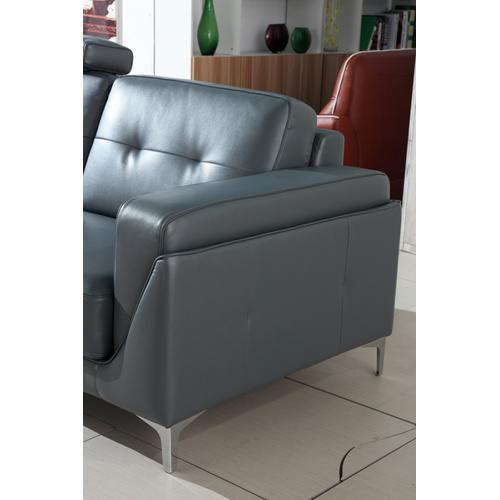Divani Casa Markham Modern Grey Bonded Leather Sofa Set
