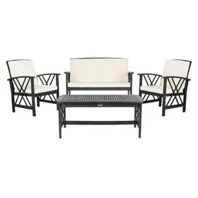 Fontana 4 PC Outdoor Set - Black / Beige