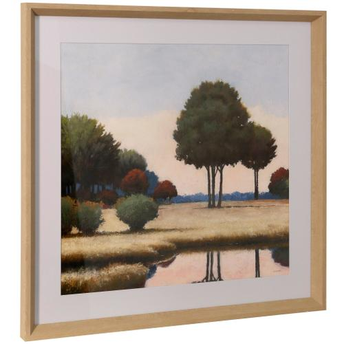 Style Craft - BY THE WATERWAYS II  26in ht X 26in w  Framed Print Under Glass