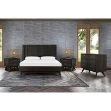 Loft 4 Piece Acacia King Bedroom Set with Dresser and Nightstands