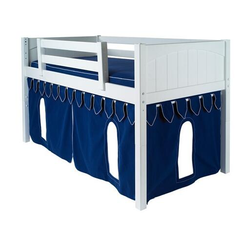 See Details - Under Bed Castle Curtain with Flags : Blue/White Castle
