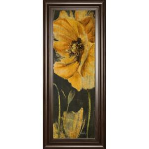"""Poppy Garden Panel Il"" By Patricia Pinto Framed Print Wall Art"