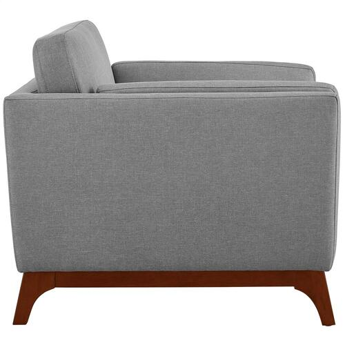 Chance Upholstered Fabric Armchair in Light Gray