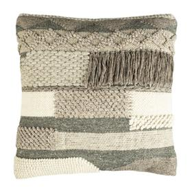 "Gareth 20"" Pillow - Charcoal / Silver"