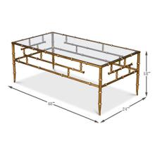 Faux Bamboo Metal Coffee Table 48""