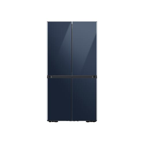 29 cu. ft. Smart BESPOKE 4-Door Flex™ Refrigerator with Customizable Panel Colors in Navy Glass