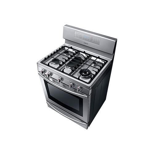 Samsung - 5.8 cu. ft. Gas Range with True Convection in Stainless Steel