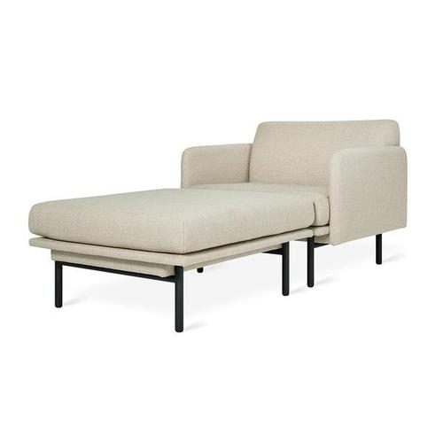 Foundry Chaise New Andorra Almond / Black
