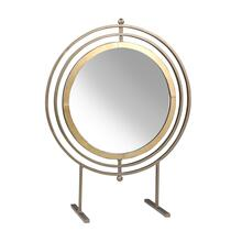 "Metal 21.25"" Table Top Mirror, Gold"