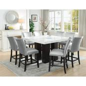 Camila 9 Piece Square Counter Dining Set (Counter Table & 8 Counter Chairs)
