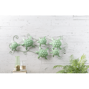 Distressed Multi Turtle Wall Decor