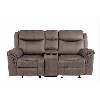 Aram Reclining Loveseat w/ Center Console & USB Ports