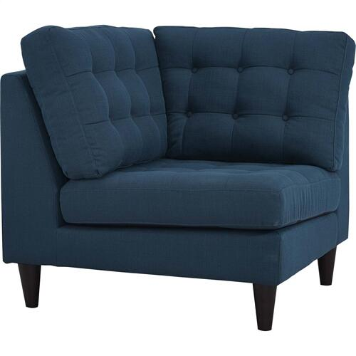 Empress Upholstered Fabric Corner Sofa in Azure