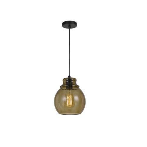 60W Aversa RippLED Glass Pendant (Edison Bulb Not included)