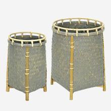 Lucca Round Baskets-Set/2, Grey Wash