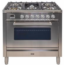 "36"" Professional Plus Series Freestanding Single Oven Gas Range with 5 Sealed Burners in Stainless Steel"