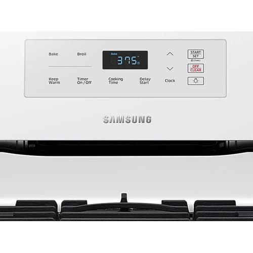 Samsung - 5.8 cu. ft. Freestanding Gas Range in White