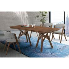 Cortina and Rowan 5 Piece Walnut Rectangular Dining Set