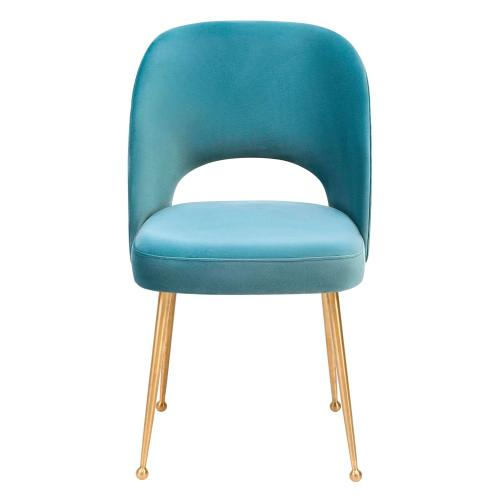 Product Image - Swell Sea Blue Velvet Chair