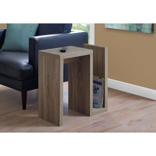 """ACCENT TABLE - 24""""H / DARK TAUPE"""