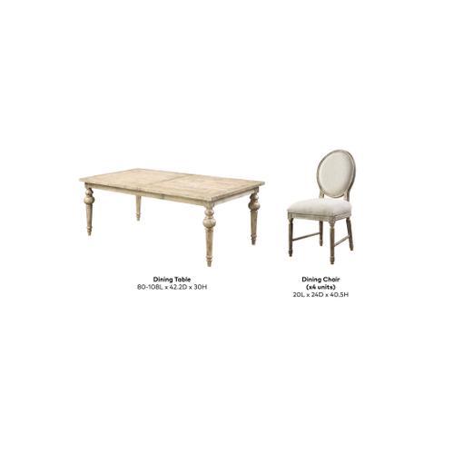 Interlude 5pc Dining Set, Sandstone Buff D560-10-20-05-k
