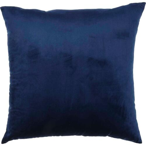 "Luminescence Qy168 Navy 18"" X 18"" Throw Pillow"