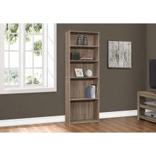 "BOOKCASE - 72""H / DARK TAUPE WITH 5 SHELVES"