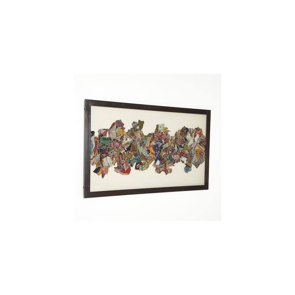 Kantha I Abstract Design w/Metal Frame