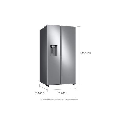 Samsung - 27.4 cu. ft. Large Capacity Side-by-Side Refrigerator in Stainless Steel
