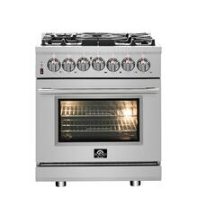 "30"" Dual Fuel FORNO ALTA QUALITA Pro-Style with 5 Defendi Italian Burners 68,000 BTU All 304 Stainless Steel FFSGS6125-30"