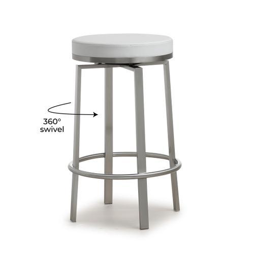 Tov Furniture - Pratt White Steel Counter Stool (Set of 2)