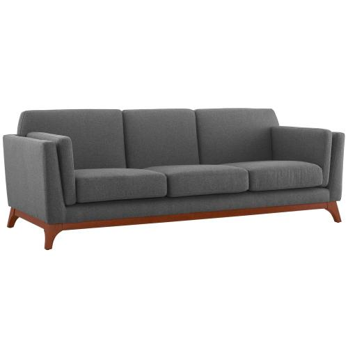 Modway - Chance Upholstered Fabric Sofa in Gray